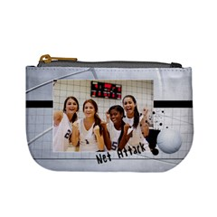 Volleyball Mini Coin Purse By Mikki   Mini Coin Purse   V2t1hu565q0x   Www Artscow Com Front