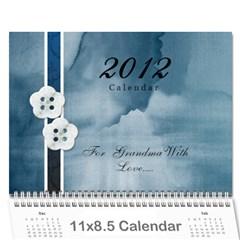 Mom 2012 Calandar By Francine Boyle   Wall Calendar 11  X 8 5  (12 Months)   Hpu81md8q067   Www Artscow Com Cover