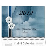 Mom 2012 Calandar - Wall Calendar 11  x 8.5  (12-Months)