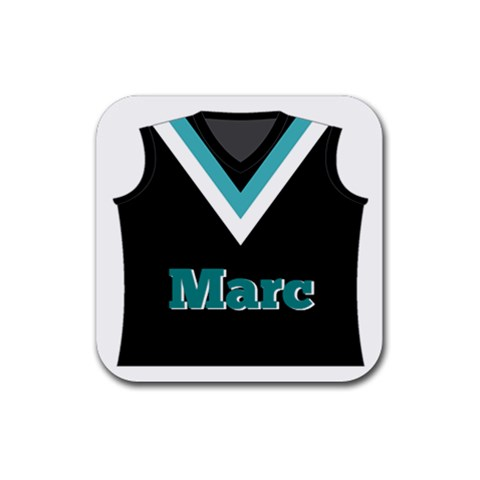 Footy Coaster By Mum2 3boys   Rubber Coaster (square)   6ltqw2i87tgf   Www Artscow Com Front