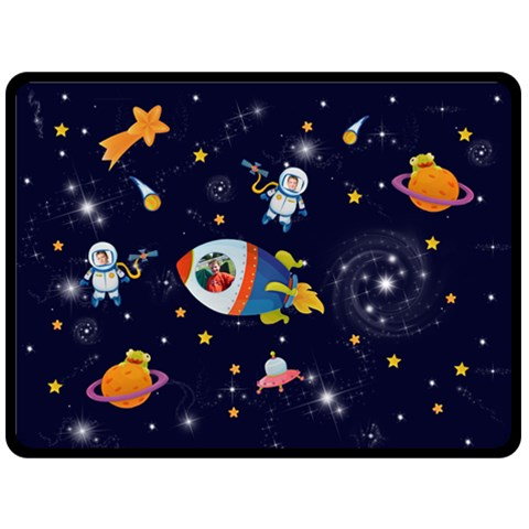 Rocket Man Extra Large Fleece Blanket By Catvinnat   Fleece Blanket (large)   Nzij58yxqmpn   Www Artscow Com 80 x60 Blanket Front