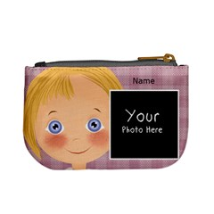 Blonde Girl Purse By Lillyskite   Mini Coin Purse   Siqxqo35l8ny   Www Artscow Com Back