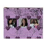 Purple Heart Extra Large Cosmetic bag - Cosmetic Bag (XL)