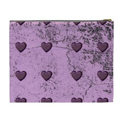 Purple Heart Extra Large Cosmetic Bag By Catvinnat   Cosmetic Bag (xl)   9li9mvdgrxzu   Www Artscow Com Back