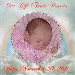 Our Gift From Heaven 12x 12 canvas - Canvas 12  x 12