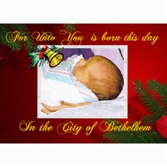 Bethlehem Christmas Photo Card By Kim Blair   5  X 7  Photo Cards   I28hkz3adco7   Www Artscow Com 7 x5 Photo Card - 2