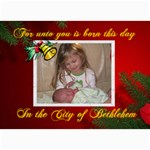Christmas card 1 - 5  x 7  Photo Cards