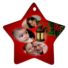 Our Family Star Ornament (2 Sided) By Deborah   Star Ornament (two Sides)   D7q3jjpqms18   Www Artscow Com Front
