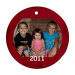 Z & S & Jillian Ornament 2011 - Ornament (Round)