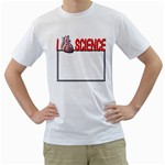 I heart science shirt - White T-Shirt