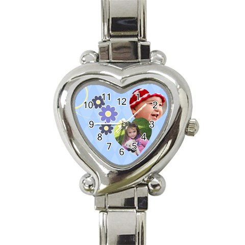Serenity Blue   Heart Italian Charm Watch By Picklestar Scraps   Heart Italian Charm Watch   C2jfnvow4irf   Www Artscow Com Front