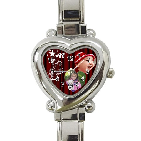 Christmas Collection  By Picklestar Scraps   Heart Italian Charm Watch   Jmq1velbtpre   Www Artscow Com Front
