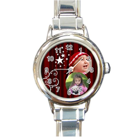 Christmas Collection  By Picklestar Scraps   Round Italian Charm Watch   1l1dk4ks6ovr   Www Artscow Com Front