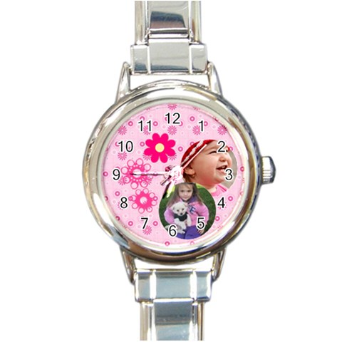 Little Princess   Round Italian Charm Watch By Picklestar Scraps   Round Italian Charm Watch   V6riw08uy8rf   Www Artscow Com Front