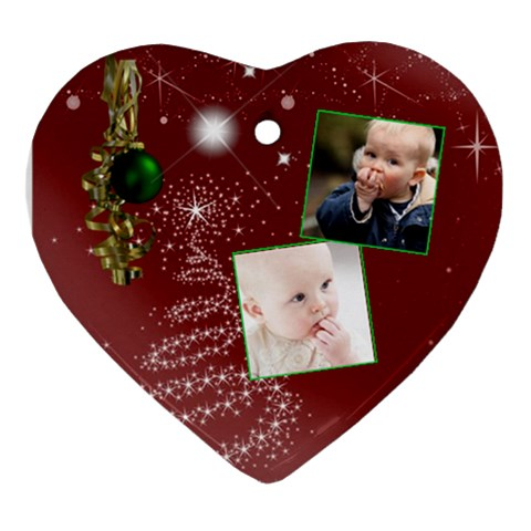 Christmas Collection  By Picklestar Scraps   Ornament (heart)   Wxiuvk5krr2d   Www Artscow Com Front