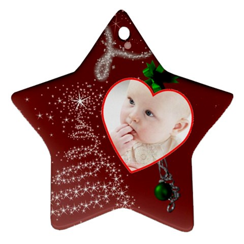 Christmas Collection  By Picklestar Scraps   Ornament (star)   B17f1yxyaykg   Www Artscow Com Front