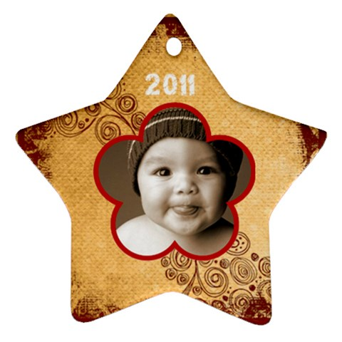 Scroll Upon A Star 2011 Star Ornament By Catvinnat   Ornament (star)   Go9cd0d8khv6   Www Artscow Com Front