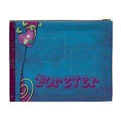 Love Forever Extra Large Cosmetic Bag By Catvinnat   Cosmetic Bag (xl)   Ut8k0bjq1e1u   Www Artscow Com Back