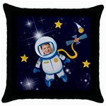 Rocket Man Pillow 3 - Throw Pillow Case (Black)