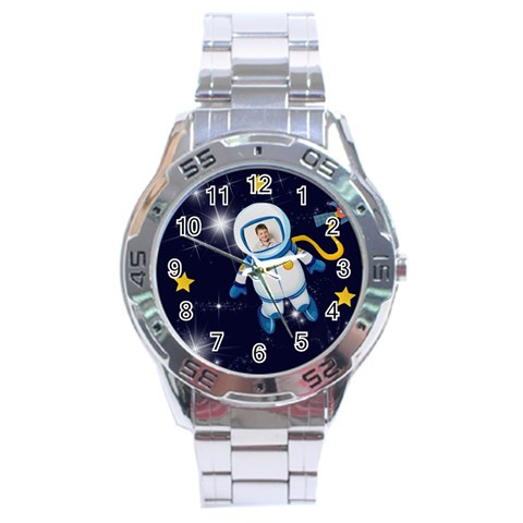 Rocket Man Analogue Steel Watch By Catvinnat   Stainless Steel Analogue Watch   9isgklcftv10   Www Artscow Com Front
