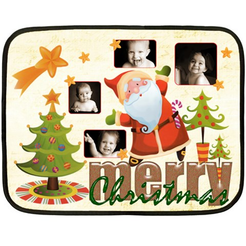 Merry Christmas Mini Fleece Blanket By Catvinnat   Fleece Blanket (mini)   A3dsz7bu1ujs   Www Artscow Com 35 x27 Blanket