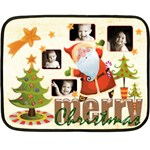 Merry Christmas Mini Fleece Blanket