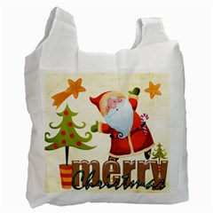 Merry Christmas Gift Bag Double side recycle bag by Catvinnat Front
