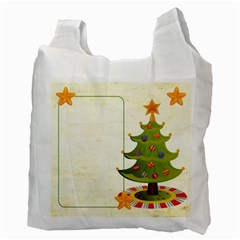 Merry Christmas Gift Bag Double side recycle bag by Catvinnat Back