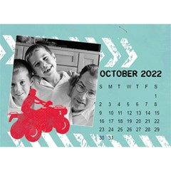 2015 All Boy Father, Masculine  Desktop Calendar 8 5x6 By Mikki   Desktop Calendar 8 5  X 6    Rztbq1r4hltq   Www Artscow Com Oct 2015