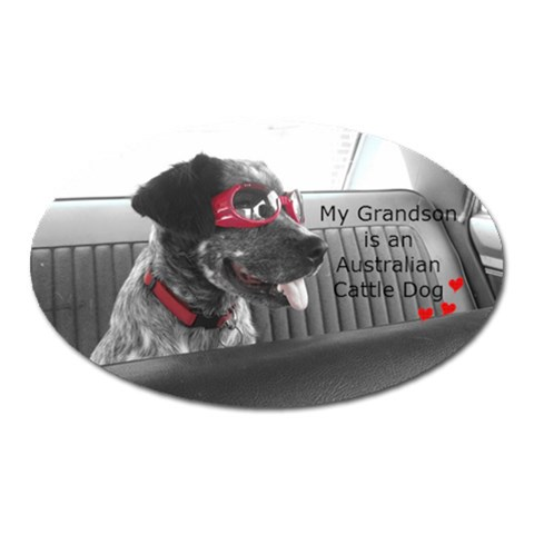 Grandma Oval By Heather   Magnet (oval)   N1o6nc4suyng   Www Artscow Com Front