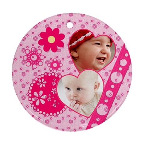 Little Princess   Round Ornament By Picklestar Scraps   Ornament (round)   Wjypdormq275   Www Artscow Com Front