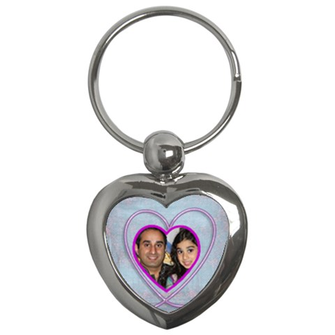 Purple Heart Key Chain Keyring By Catvinnat   Key Chain (heart)   Ugq6bheafouc   Www Artscow Com Front