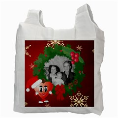 Wreath Recycle Bag 1 By Kim Blair   Recycle Bag (two Side)   4zl8yp791qda   Www Artscow Com Back