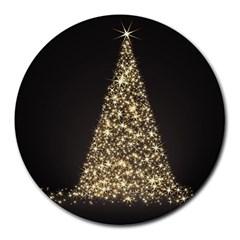 Christmas Tree Sparkle Jpg 8  Mouse Pad (round) by tammystotesandtreasures