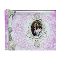 Wedded Bliss Extra Large Cosmetic Bag By Catvinnat   Cosmetic Bag (xl)   Dp7m2bjua1td   Www Artscow Com Front