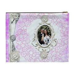 Wedded Bliss Extra Large Cosmetic Bag By Catvinnat   Cosmetic Bag (xl)   Dp7m2bjua1td   Www Artscow Com Back