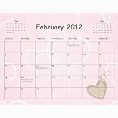 2012 Calendar By Janene   Wall Calendar 11  X 8 5  (12 Months)   7ei5pjc0hscp   Www Artscow Com Feb 2012