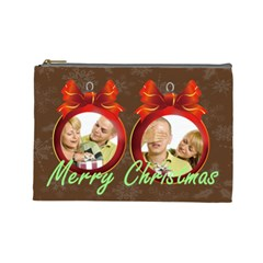 Xmas By May   Cosmetic Bag (large)   Gi2bra3q47k6   Www Artscow Com Front
