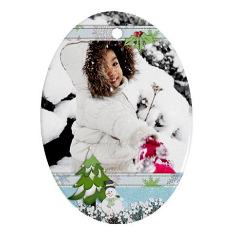 Ornament   Winter/christmas By Angel   Ornament (oval)   Fcjjgu40dmpn   Www Artscow Com Front