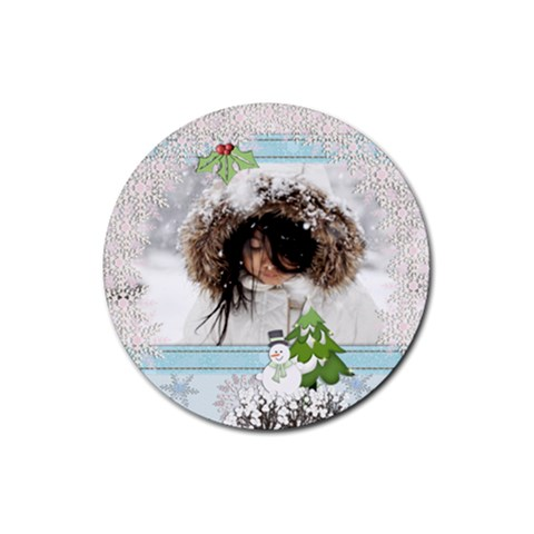 Coaster   Winter/christmas By Angel   Rubber Coaster (round)   Oagug56fn2qt   Www Artscow Com Front