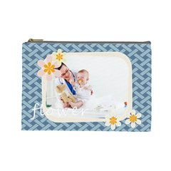 Flower By Joely   Cosmetic Bag (large)   Txmlwbskprca   Www Artscow Com Front