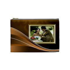 Gold Medium Cosmetic Bag By Deborah   Cosmetic Bag (medium)   7fpns142gmjs   Www Artscow Com Front