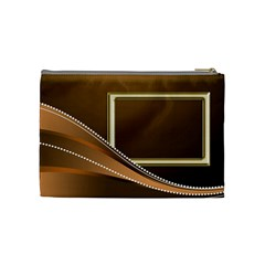 Gold Medium Cosmetic Bag By Deborah   Cosmetic Bag (medium)   7fpns142gmjs   Www Artscow Com Back