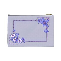 Purple Flower (large) Cosmetic Bag By Deborah   Cosmetic Bag (large)   8hh13a8w8ry5   Www Artscow Com Back