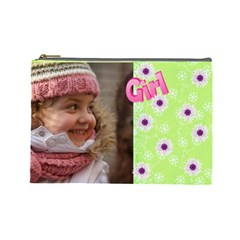 Girl (large) Cosmetic Bag By Deborah   Cosmetic Bag (large)   Nuda5qpxut6d   Www Artscow Com Front