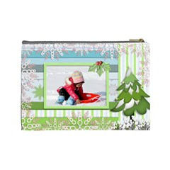 Cosmetic Bag Large   Winter/christmas By Angel   Cosmetic Bag (large)   Ceh8fvkil63b   Www Artscow Com Back