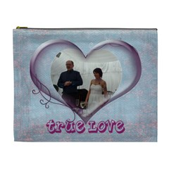 True Love Extra Large Cosmetic Bag By Catvinnat   Cosmetic Bag (xl)   Hpvthrtrrbgu   Www Artscow Com Front