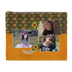 XL Cosmetic Bag: Cherished 3 by JennyL Front