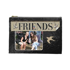 Friends Large Cosmetic Bag By Lil    Cosmetic Bag (large)   Afwgkauyx66k   Www Artscow Com Front
