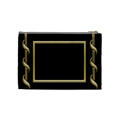 Black And Gold (medium) Cosmetic Bag By Deborah   Cosmetic Bag (medium)   7cgf8824qbl3   Www Artscow Com Back